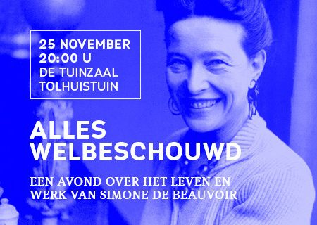 Simone de Beauvoir op 25 november